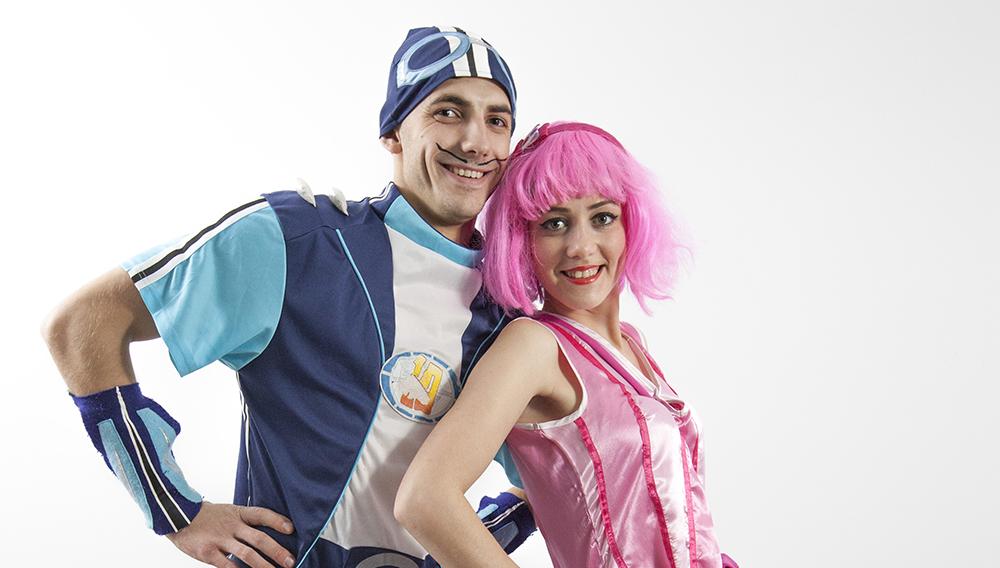 Sportacus si Stefania din Oraselul Lenes