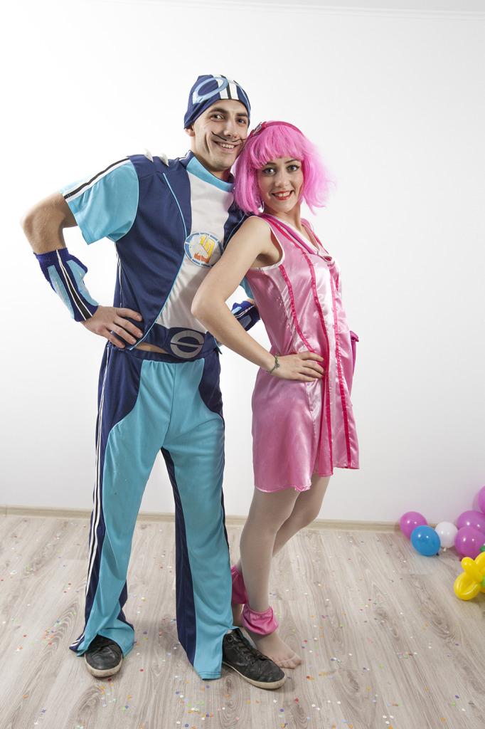 Sportacus si Stefania - minunatele personaje din Oraselul lenes.