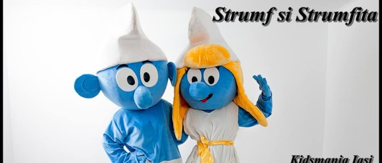 Strumfii - personaje la petreceri pentru copii in Iasi