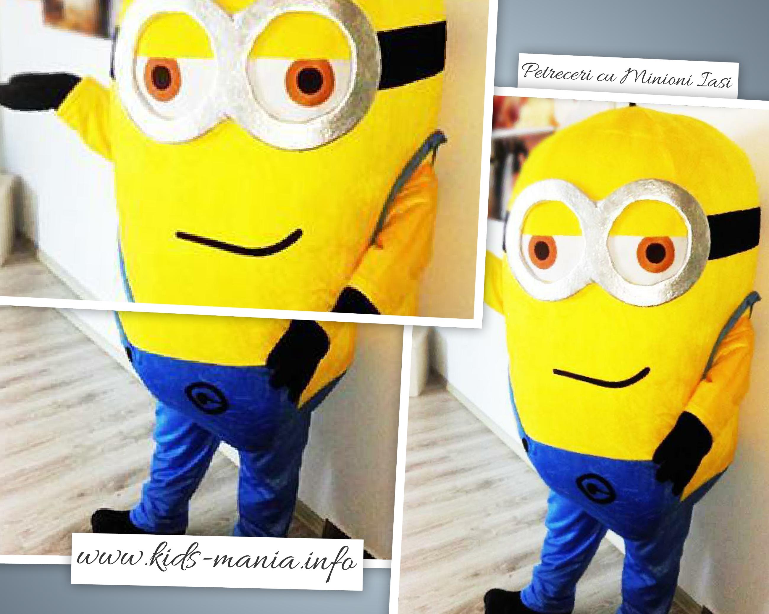 Minionii - mascote animatori la petreceri pentru copii