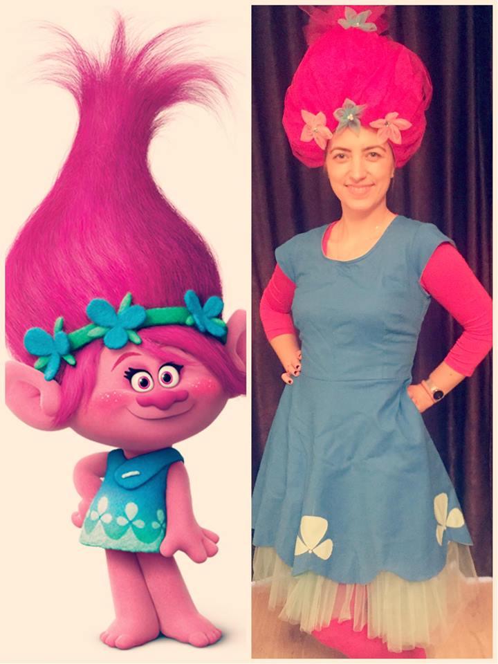 """Poppy - fetita din filmul """"trolls"""" - animatoare la petreceri pentru copii in iasi"""