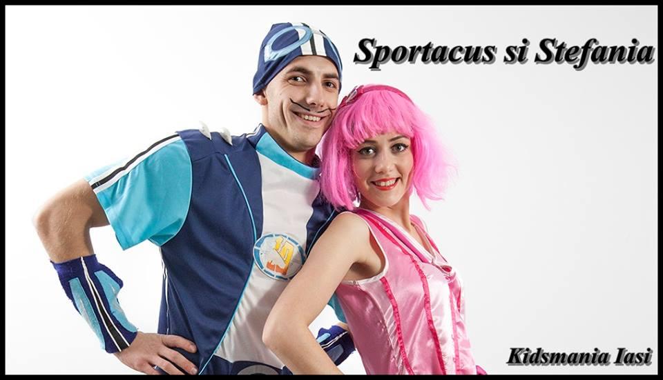 Animatori Sportacus si Stefania in Iasi